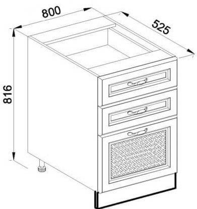 Модуль Н 80Ш низ кухня Роксана