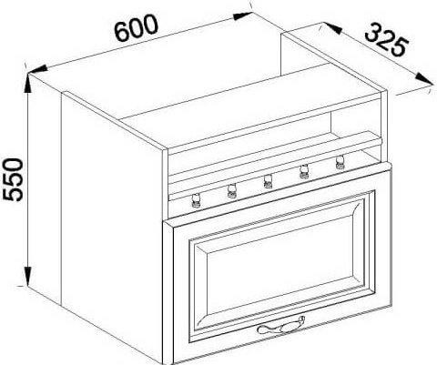 Модуль В 60 окап верх кухня Роксана