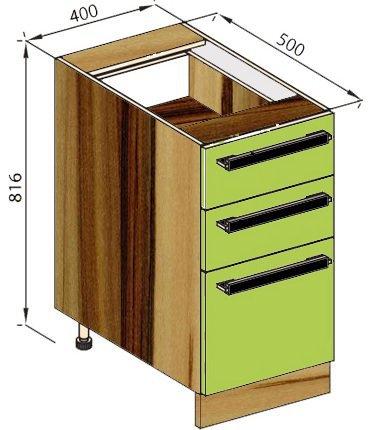 Модуль Н 40Ш низ кухня Зара