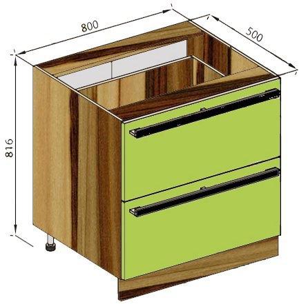 Модуль Н 80Ш низ кухня Зара