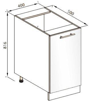 Модуль Н 40 низ кухня Стелла