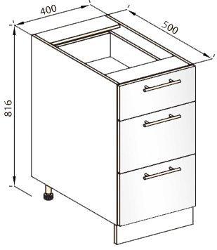 Модуль Н 40Ш низ кухня Стелла