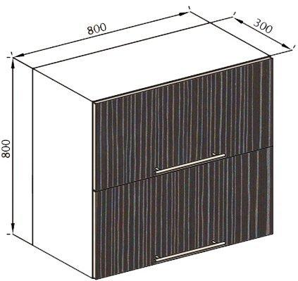 Модуль В 80Б верх кухня Стелла