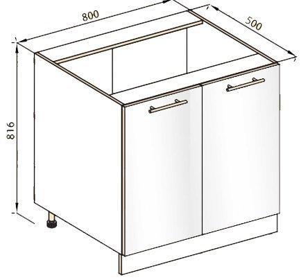 Модуль Н 80 низ кухня Стелла