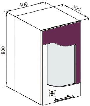 Модуль В 40Ск верх кухня Вита