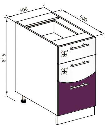 Модуль Н 40Ш низ кухня Вита