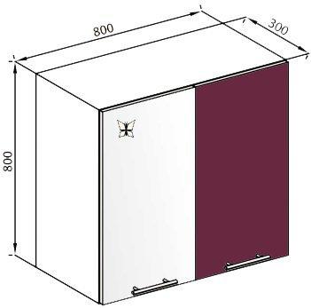 Модуль В 80 верх кухня Вита