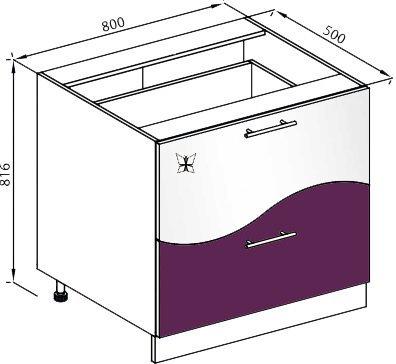 Модуль Н 80Ш низ кухня Вита