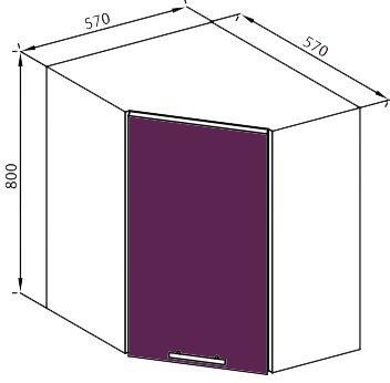 Модуль В 60*60 верх кухня Вита