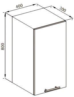 Модуль В 40 верх кухня Нана
