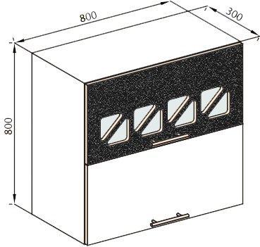 Модуль В 80Б верх кухня Нана