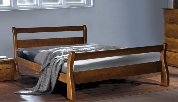 Двуспальная кровать Монреаль орех, каштан Элегант