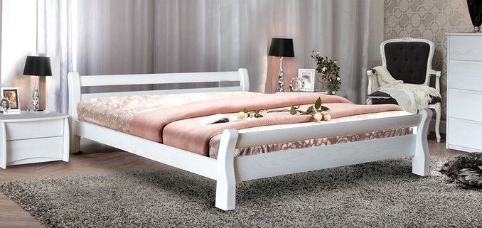 Двуспальная кровать Монреаль ясень Элегант
