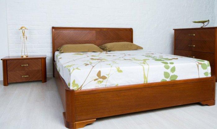 Полуторная кровать Аврора дерево с подъемным механизмом - 140 см