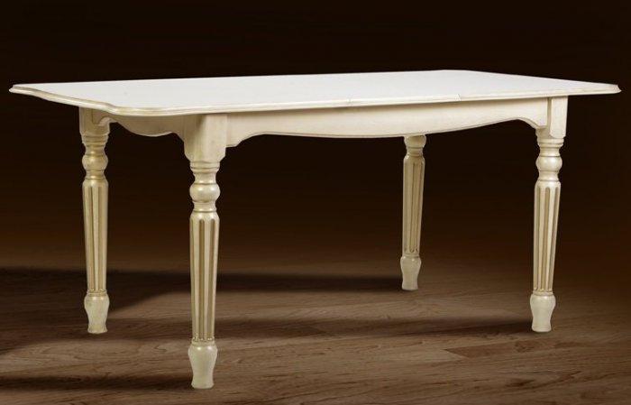 Стол обеденный Венеция 1400 (слоновая кость) Палермо