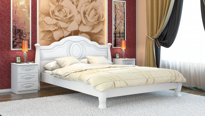 Полуторная кровать Анна-элегант - 140x190-200см