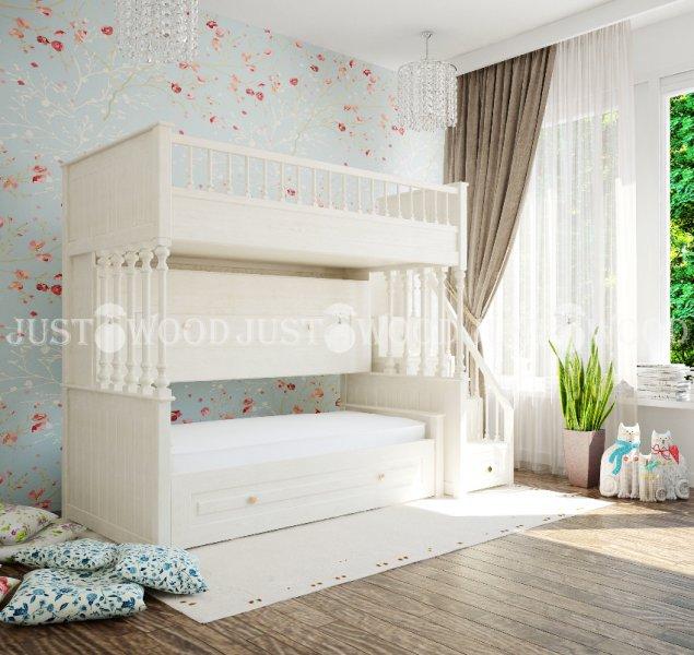 Детская двухъярусная кровать Марго
