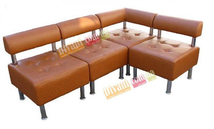 Модульный диван Домино 1 Секция А - пуф со спинкой