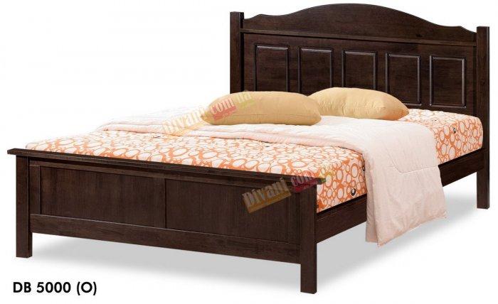 Двуспальная кровать Onder Metal Wood Beds DB 5000 (D) 200x160см