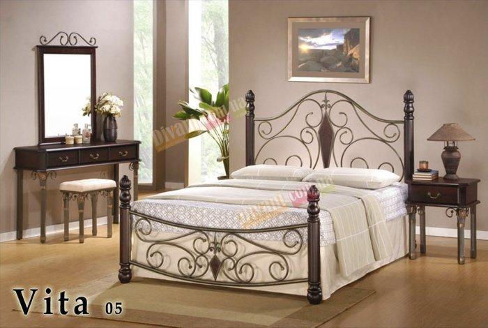 Двуспальная кровать  Vita-05 200x160см