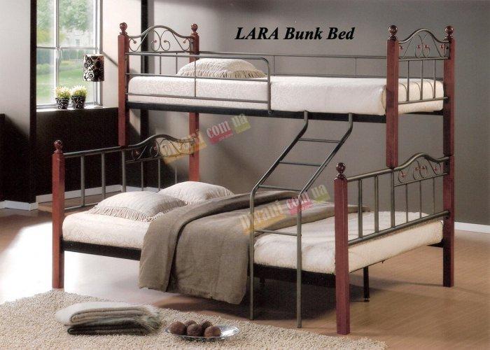 Кровать двухярусная DD Lara (Лара) 200x160см и 200x90см