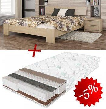 Комплект кровать Титан + матрас Daily 2in1 160см