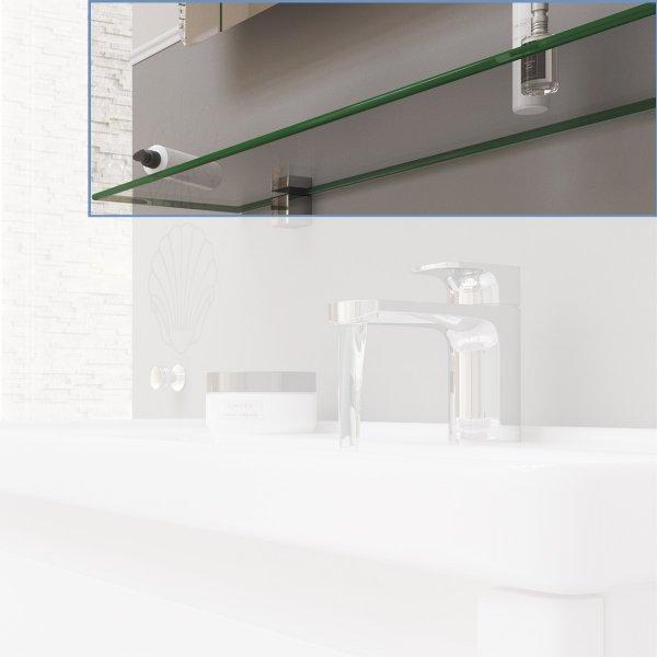 Полка Sanwerk стеклянная сверхпрозрачная 800х150 мм.