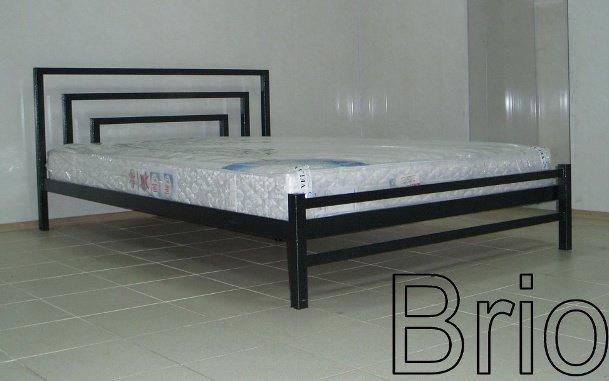 Односпальная кровать Brio 1 - 80 или 90см с низкой спинкой у ног
