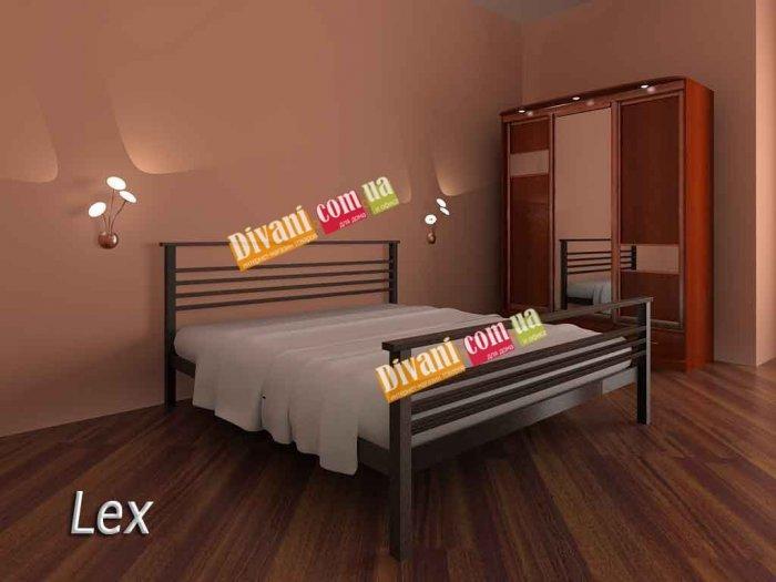 Полуторная кровать Lex - 120-140см с низкой спинкой у ног