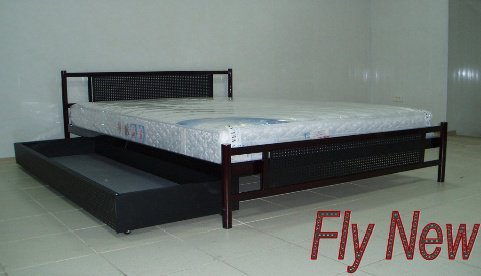 Полуторная кровать Fly New 2 - шириной 120 см с высокой спинкой у ног