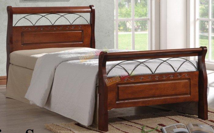 Односпальная кровать  Nina S 200x90см