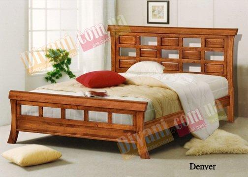Двуспальная кровать Onder Metal Wood Beds Denver (Денвер) 200x160см