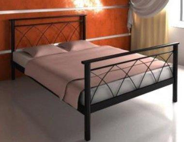 Полуторная кровать Diana 2 - 140 см с высокой спинкой у ног