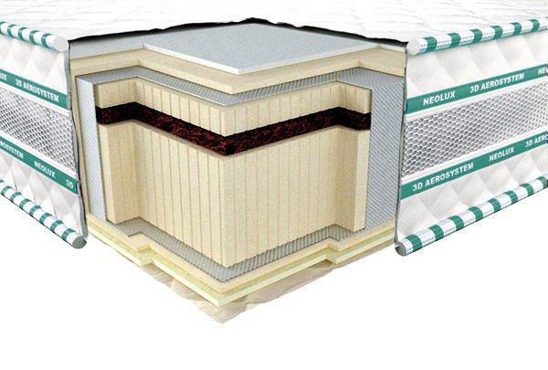 Односпальный матрас 3D Aerosystem Neoflex Bio - 90x190 см