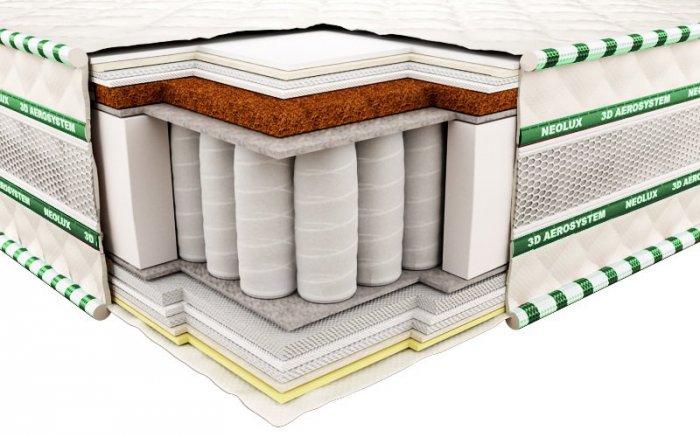Ортопедический матрас Неолюкс 3D Магнат ультра-кокос - 120см