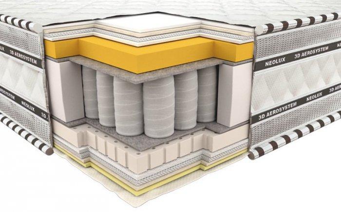 Ортопедический матрас Неолюкс 3D Империал мемори-латекс - 90см