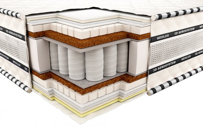 Ортопедический матрас Неолюкс 3D Империал латекс-кокос - 120см