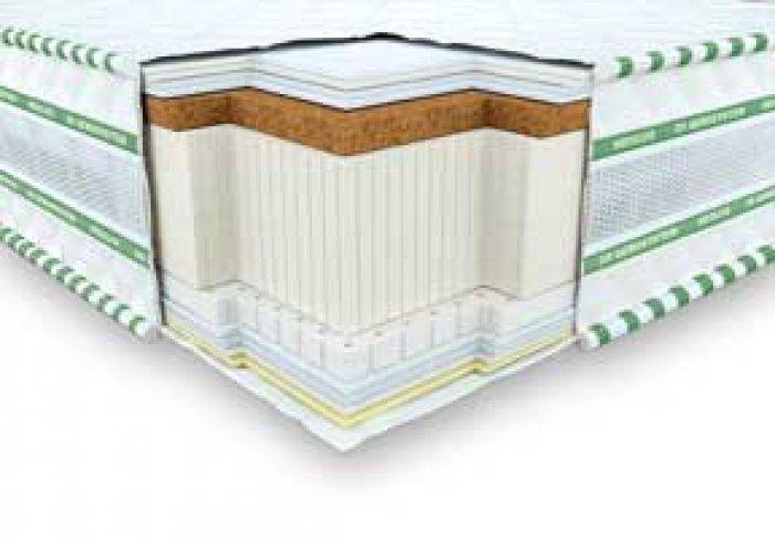 Безпружинный матрас 3D Галант кокос-латекс - 140x200 см