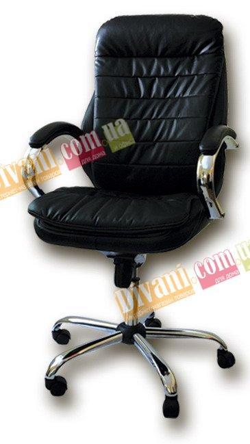 Кресло руководителя Барселона хром+синхромеханизм
