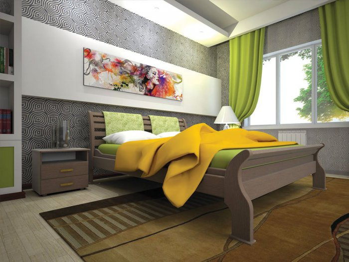Полуторная кровать Ретро 2 - 120см