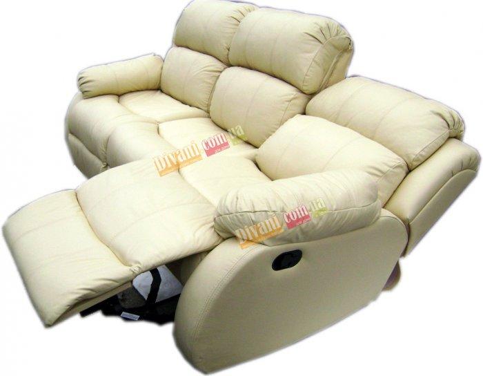 Кожаный диван Шахерезада с реклайнерами