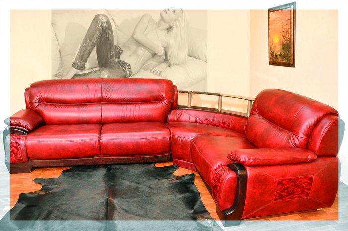 Кожаный угловой диван Артемида