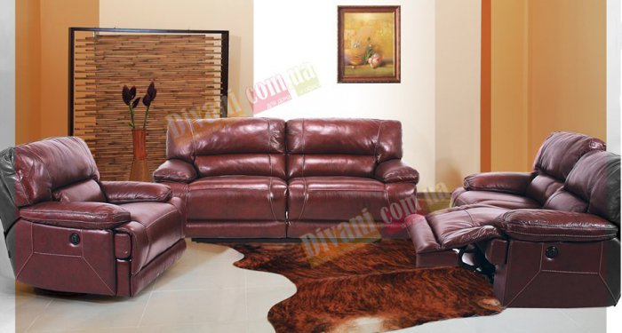 Кожаный диван Монблан