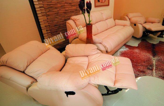 Кожаное кресло Шахерезада (Электрический реклайнер)