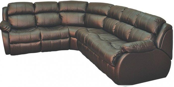 Кожаный угловой диван Шахерезада