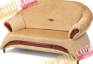 Кожаный диван Жасмин 2 нераскладной