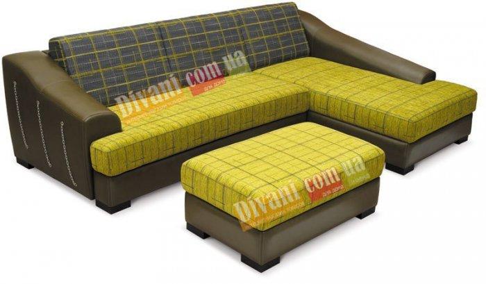 Кожаный угловой диван Люверс