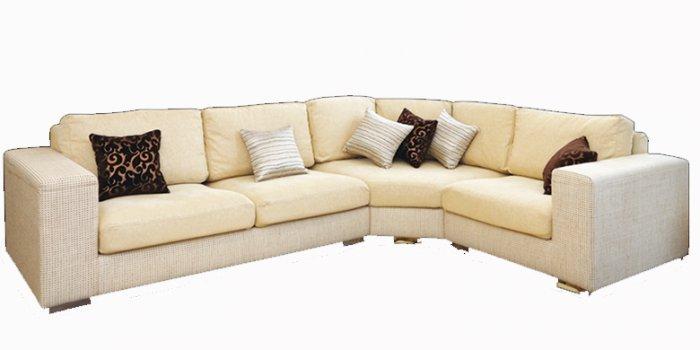 Кожаный угловой диван Plaza 135