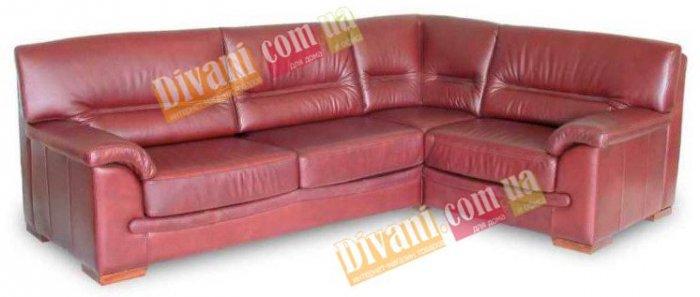 Кожаный угловой диван Элит - 275x195 см