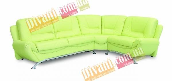Кожаный угловой диван Саванна - 305x228 см